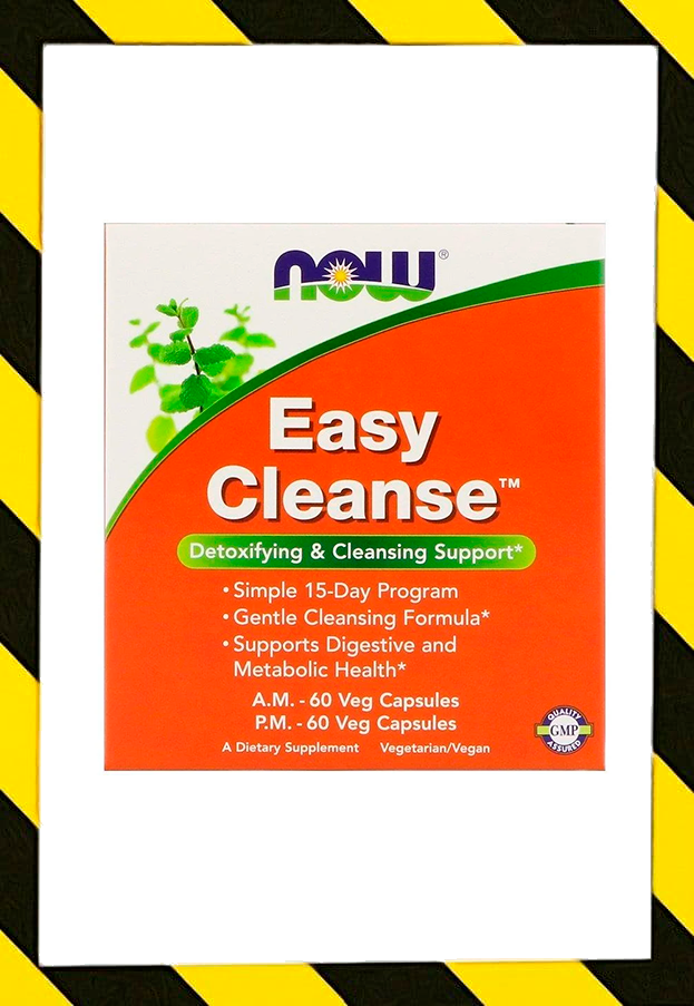 Now Foods, Easy Cleanse, для детоксикации и очистки, 2 флакона, по 60 растительных капсул в каждом