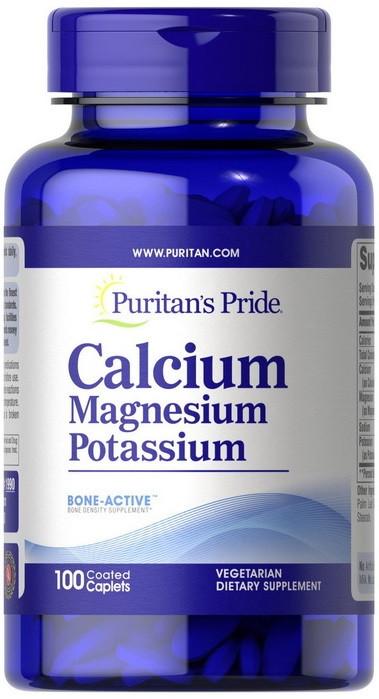 Минеральный комплекс Puritan's Pride - Calcium Magnesium Potassium (100 таблеток)