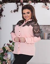 Блузы и рубашки батал 48+