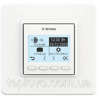 Терморегулятор программируемый terneo pro (белый), программатор для теплого пола