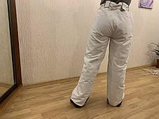 Сноуборд белые штаны горнолыжные тёплые штаны Thinsulate, фото 2