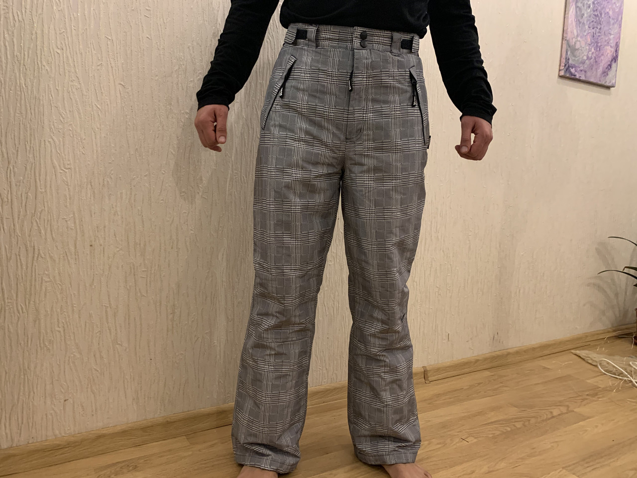 Сноуборд штаны в клетку горнолыжные тёплые штаны Thinsulate