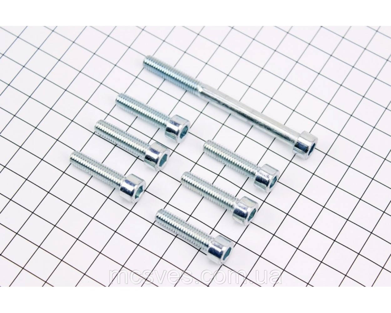 (Китай) Болт крепления крышки вариатора Suzuki AD 50 - к-кт 7шт 1 / 2