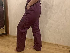 Сноуборд бордовые штаны горнолыжные тёплые штаны Thinsulate, фото 2
