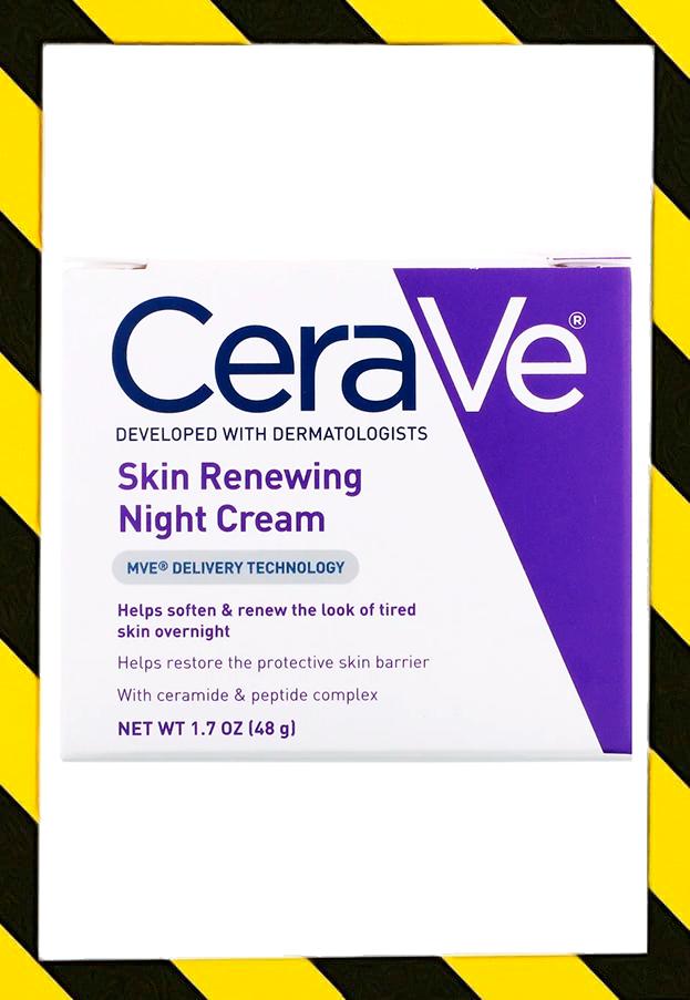 CeraVe, Skin Renewing Night Cream, Ночной восстанавливающий крем с пептидами (48 g)