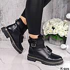 Зимние женские черные ботинки, натуральная кожа/неопрен, фото 3