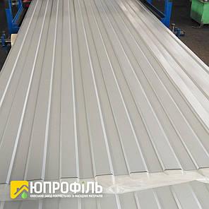 Профнастил стеновой ПС8 для забора Серый RAL 7004 глянец 0.40 мм., фото 2