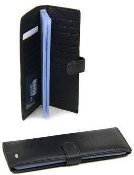 Современная мужская визитница  на клапане из качественной кожи dr.Bond M 3 black (черный)