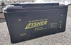 Гелевый аккумулятор для электромотора Fisher 65Ah gel, фото 2