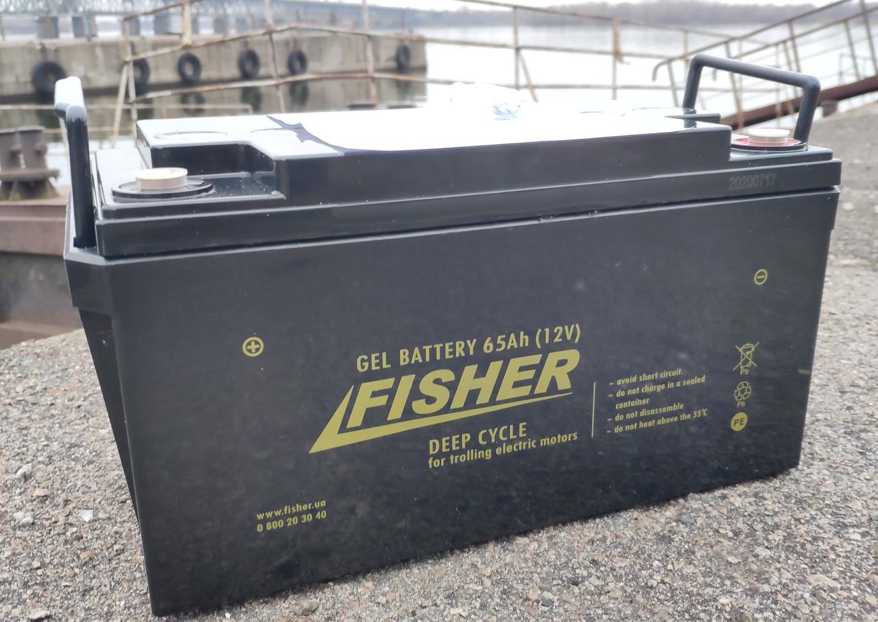 Гелевый аккумулятор для электромотора Fisher 65Ah gel