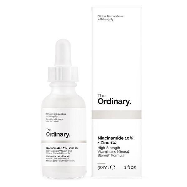 Сыворотка для жирной кожи с ниацинамидом и цинком The Ordinary Niacinamide 10% + Zinc 1% 30 мл