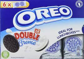 Oreo Double Creme Chocolate Sandwich Biscuit Lunchbox 6 Pack 170g