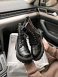 Женские зимние ботинки Balenciaga Tractor на меху PA306 черные, фото 9