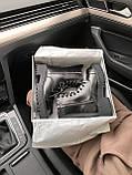 Женские зимние ботинки Balenciaga Tractor на меху PA306 черные, фото 10