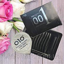 Презервативы Olo 0.01 BLACK ультратонкие с гиалуроновой кислотой