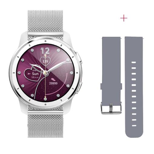 Mafam MX11 смарт-часы с тонометром + дополнительный ремешок - Серебро