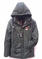 Куртка мужская зимняя хаки,  внутри мех. Пуховик зимний теплый. Длинная мужская куртка