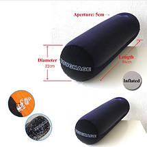 Подушка для секса с отвестием для фаллоимитатора и вибратора  для двойного проникновения, фото 3