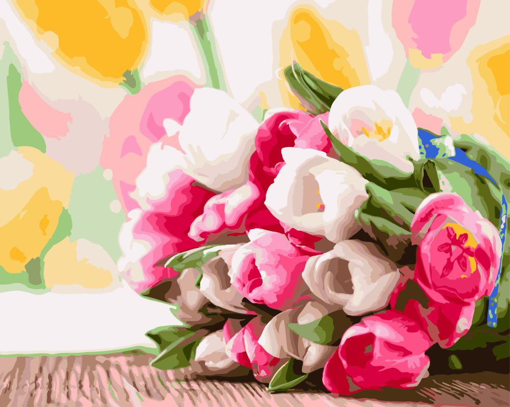 Картина по номерам Букет тюльпанов 40х50 см, BrushMe (GX9193)