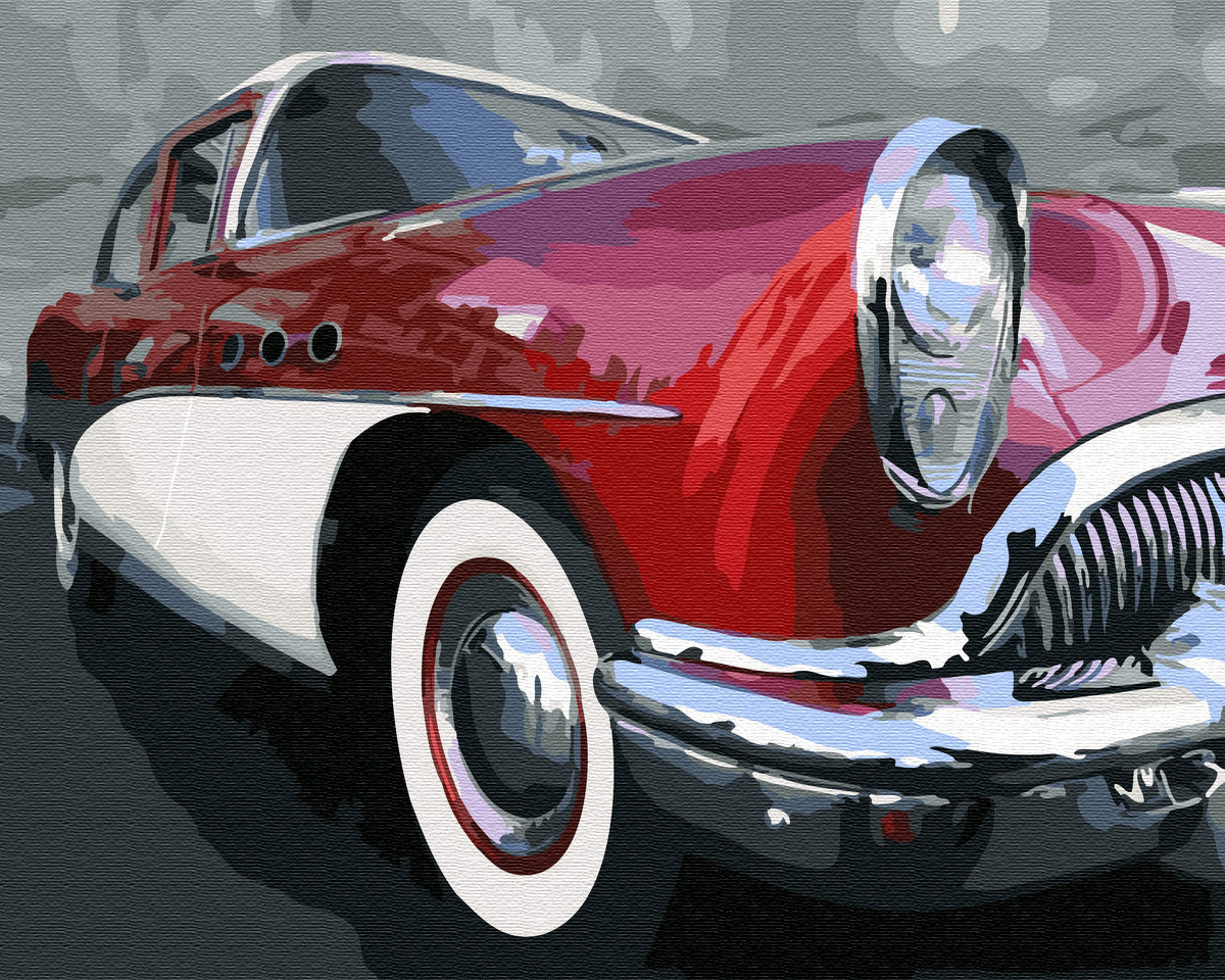 Картина по номерам Красный ретро автомобиль 40х50 см, BrushMe (GX32550)