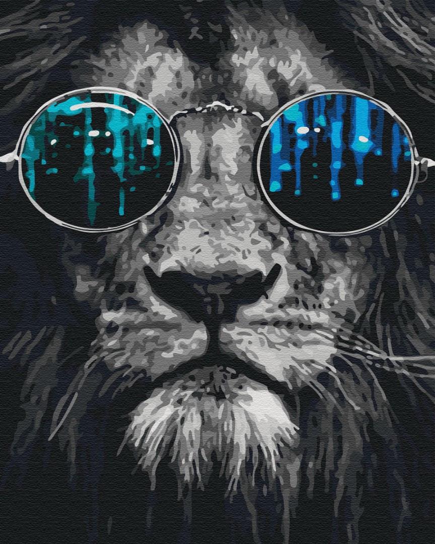 Картина по номерам Лев в очках 40х50 см, BrushMe (GX26783)