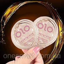 Презервативы Olo 0.01 GOLD с точками и ребрами с гиалуроновой кислотой 1 шт.