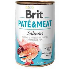 Консервы для собак Brit Pate & Meat Salmon (лосось и курица) 400 г