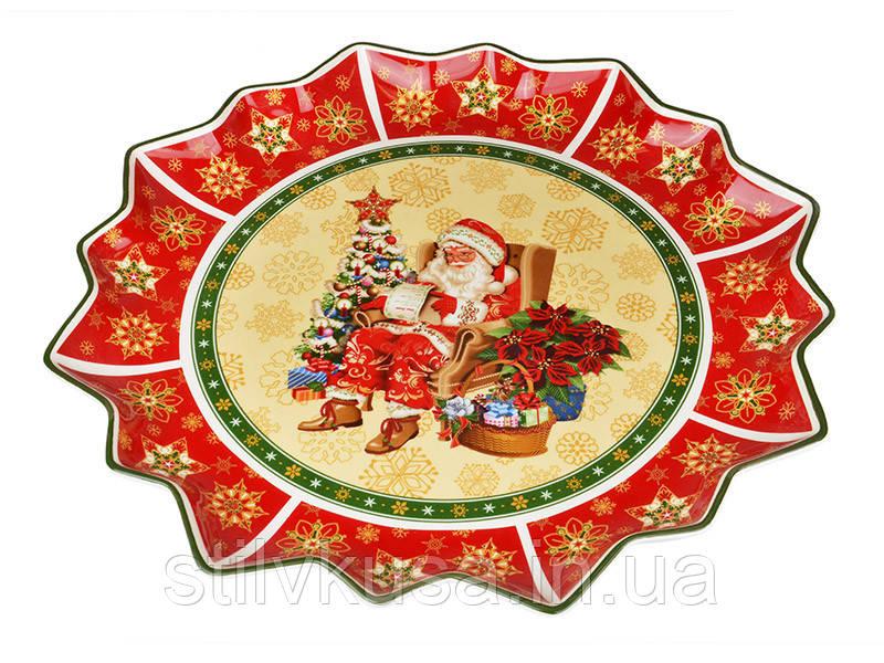 Блюдо новогоднее Колокольчики