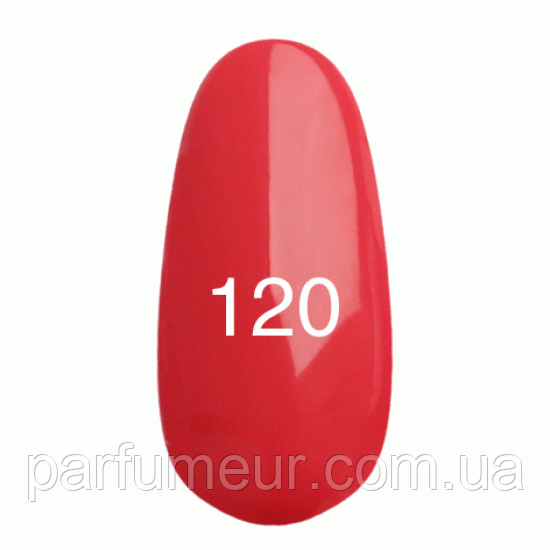 Гель- лак  KODI №120 Глубокий карминно-розовый 8мл.