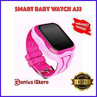 Детские смарт часы Smart Baby Watch A32 GPS Розовые