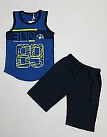 Летний детский костюм майка и шорты для мальчика на каждый день