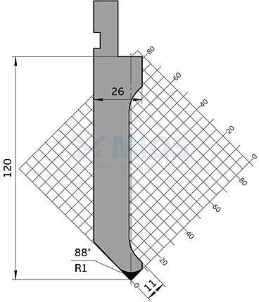 Пуансон Р.127.88.С (835мм), фото 2