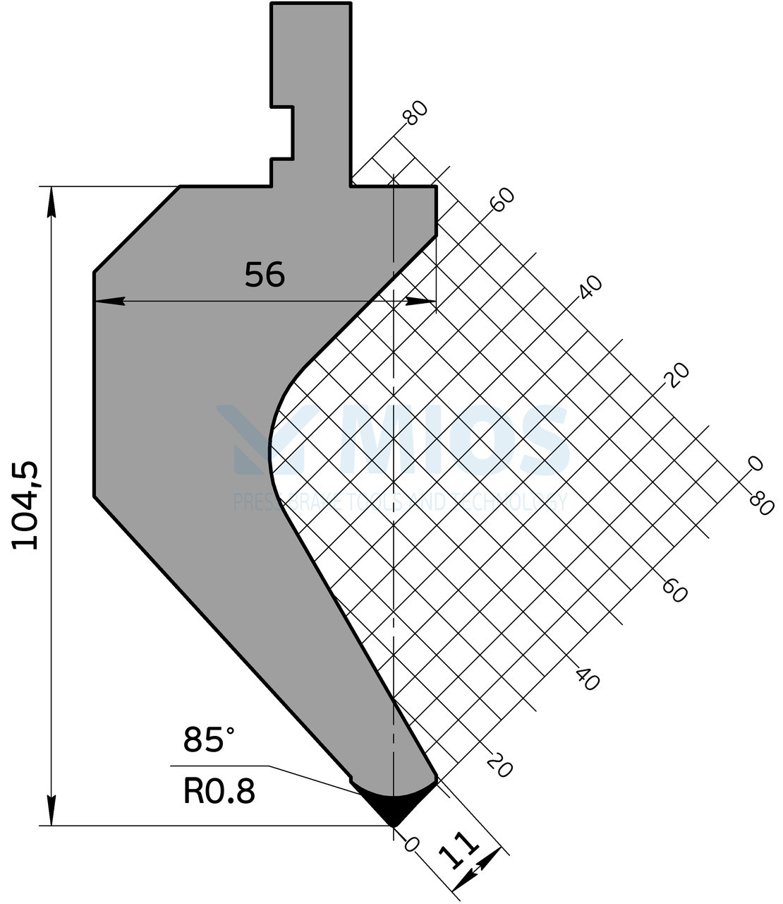 Пуансон Р.162.85.С (835мм)