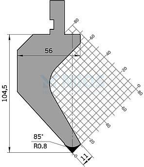 Пуансон Р.162.85.С (835мм), фото 2