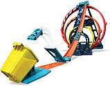 Набор Хот Вилс Track builder Тройная петля / Hot Wheels Track Builder Unlimited Triple Loop Kit, фото 3