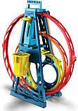Набор Хот Вилс Track builder Тройная петля / Hot Wheels Track Builder Unlimited Triple Loop Kit, фото 7