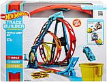 Набор Хот Вилс Track builder Тройная петля / Hot Wheels Track Builder Unlimited Triple Loop Kit, фото 2