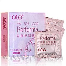Презервативы  ультратонкие Olo Performa с эффектом пролонгации с гиалуроновой кислотой 3 шт.