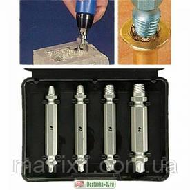 Набор экстракторов для извлечения саморезов, шурупов, шпилек 4 шт PROFI