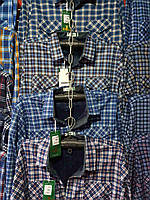 Рубашка теплая мужская на пуговицах на флисе норма, фото 1