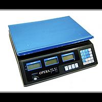 Универсальные электронные торговые весы до 40 кг с калькулятором Opera Classic Plus 40 Серый (2-1513 вид)