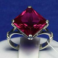 Серебряное кольцо с большим камнем 1490р мм, фото 1
