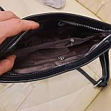 Женский черный кожаный клатч сумка, фото 7