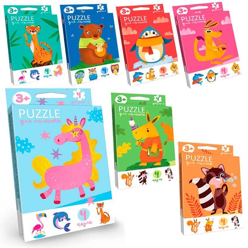 """Пазлы Danko Toys Puzzle для малышей укр. """"Животные"""" PFK-03U"""