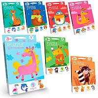 """Пазлы Danko Toys Puzzle для малышей укр. """"Животные"""" PFK-03U                                         , фото 1"""
