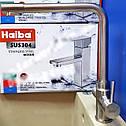 Высокий смеситель для кухни из нержавеющей стали с краном питьевой воды HAIBA SUS 021 (HB3908), фото 4