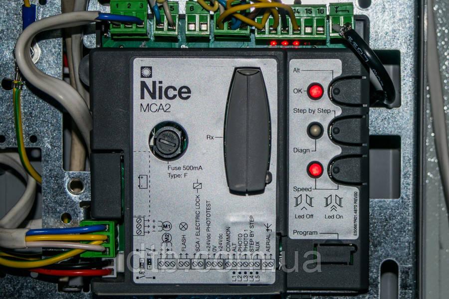 Плата MCA2 блока Nice MC424 L для управления распашными воротами