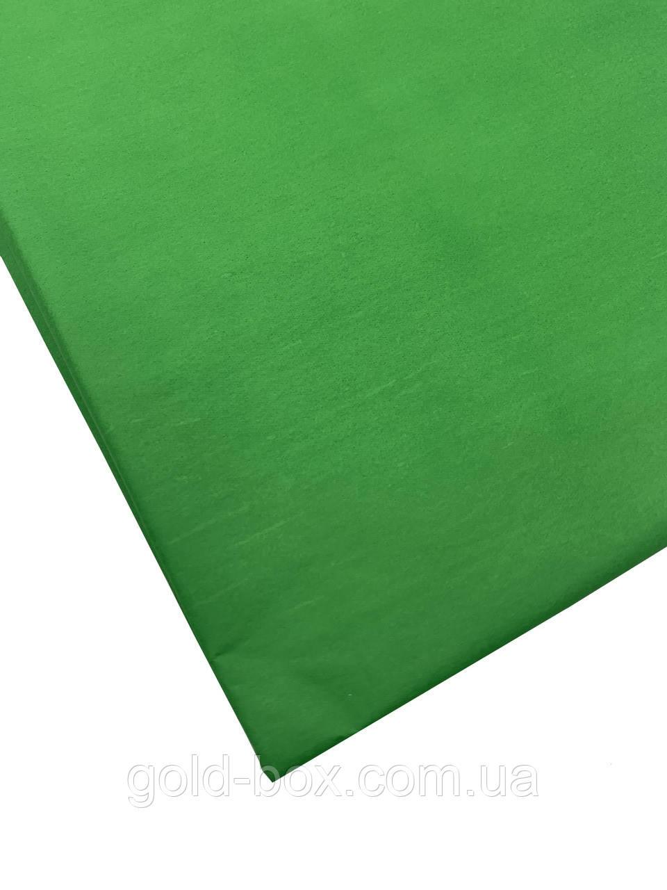 Упаковочная бумага тишью 10 листов зелёная