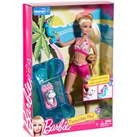 Игровой набор кукла Барби с щенками в аквапарке