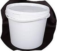 Ведро пластиковое пищевое с крышкой белое 20 литров.